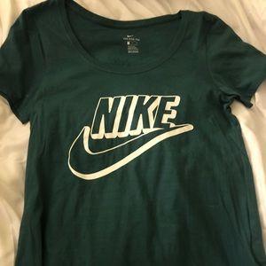 Green Nike women's shirt